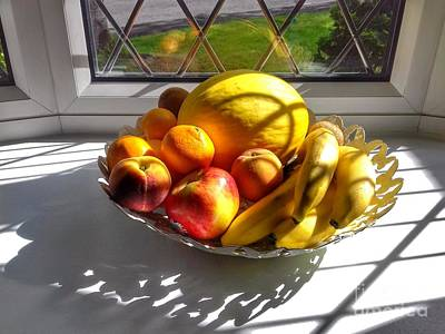 Photograph - Sunshine Fruit Still Life by Joan-Violet Stretch