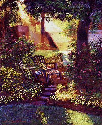 Pathway Painting - Sunshine Garden by David Lloyd Glover