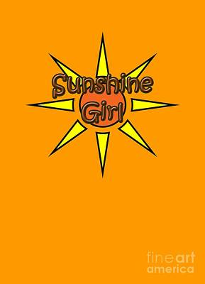 Digital Art - Sunshine Girl by Judy Hall-Folde