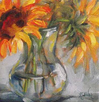 Sunshine In A Vase Original by Angela Sullivan