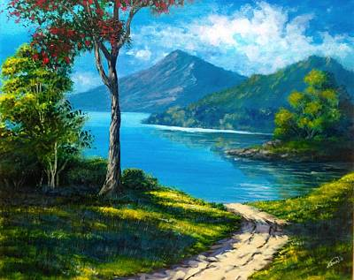 Painting - Sunshine Landscape  by Alban Dizdari