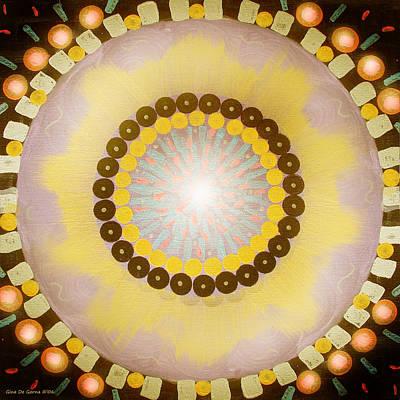 Painting - Sunshine Mandala by Gina De Gorna