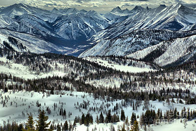 Photograph - Sunshine Meadows Winter Overlook by Adam Jewell