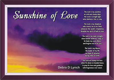 Sunshine Of Love Art Print by Debra Lynch