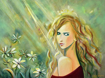 Painting - Sunshine On My Shoulder by Gina De Gorna