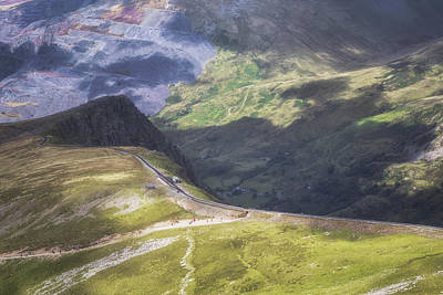 Snowdon Photograph - Sunshine On The Mountain Side by Chris Fletcher