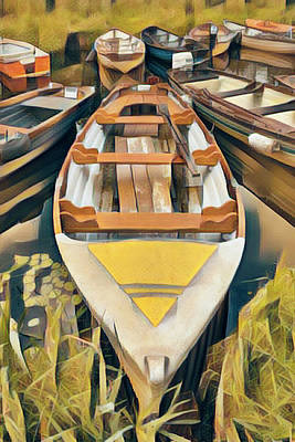 Photograph - Sunshine On The River Rowboats by Debra and Dave Vanderlaan