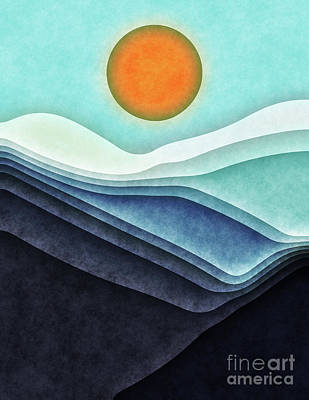 Digital Art - Sunshine Over Blue Mountains by Phil Perkins
