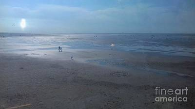 Photograph - Sunshine Reflections On Southport Beach by Joan-Violet Stretch