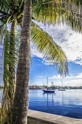 Blue Pirate Ships Landscape Photograph - Sunshine Sailing by Debra and Dave Vanderlaan