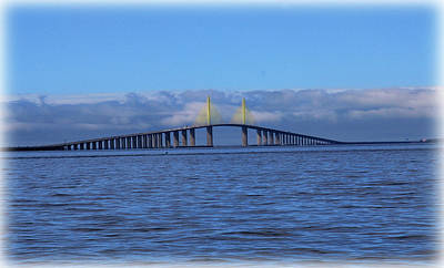 Photograph - Sunshine Skyway by Amanda Vouglas