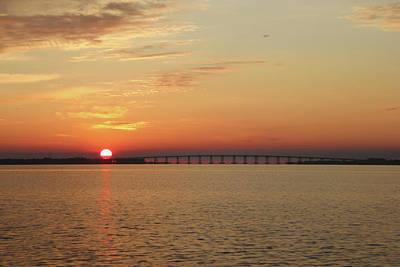 Photograph - Sunshine Skyway Bridge At Sunrise by Jack Nevitt