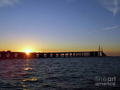 Photograph - Sunshine Skyway Bridge by D Hackett
