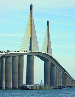 Photograph - Sunshine Skyway Bridge by Emmy Vickers