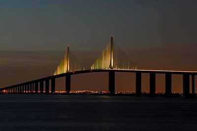 Photograph - Sunshine Skyway Bridge by Jonathan Sabin