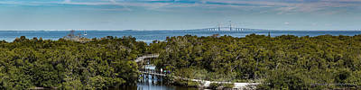 Photograph - Sunshine Skyway Bridge Panorama by Richard Goldman
