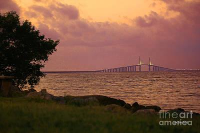 Photograph - Sunshine Skyway Bridge by Terri Mills