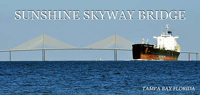 Photograph - Sunshine Skyway Pano 1 by David Lee Thompson