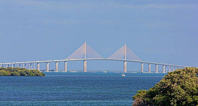 Photograph - Sunshine Skyway Panorama by HH Photography of Florida