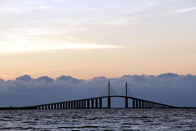 Photograph - Sunshine Skyway Sunset by Greg Allore