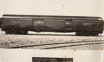Photograph - Sunshine Special Baggage Car by Missouri Pacific Historical Society