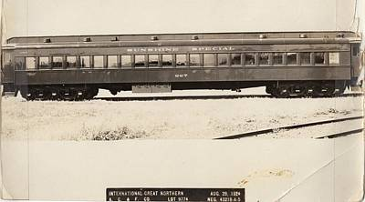 Photograph - Sunshine Special Builders Photo Passenger Car by Missouri Pacific Historical Society