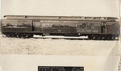Photograph - Sunshine Special Rpo Passenger Car by Missouri Pacific Historical Society