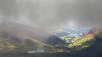Snowdonia Photograph - Sunshine Through The Low Cloud by Chris Fletcher