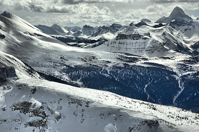 Photograph - Sunshine Village Canadian Rocky Mountain Views by Adam Jewell