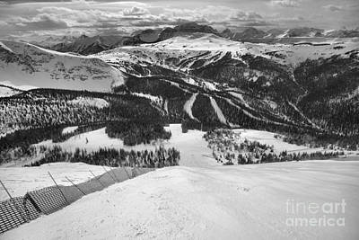Photograph - Sunshine Village From Goats Eye Black And White by Adam Jewell