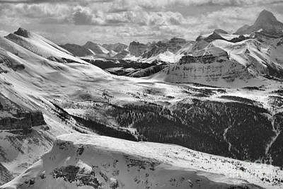 Photograph - Sunshine Village Mountain Views Black And White by Adam Jewell