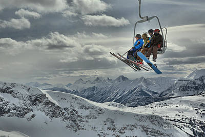 Photograph - Sunshine Village Peak Adventure by Adam Jewell