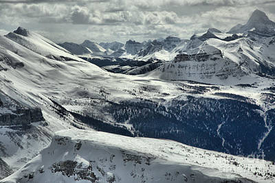 Photograph - Sunshine Village Peaks And Drifts by Adam Jewell