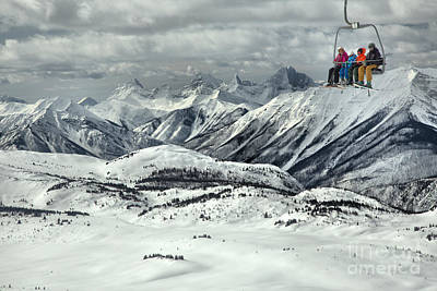 Photograph - Sunshine Village Scenic Chairlift Ride by Adam Jewell
