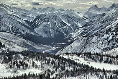Photograph - Sunshine Village Ski Resort Mountain Views by Adam Jewell