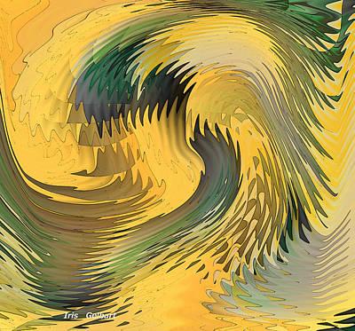 Digital Art - Sunshine Waves by Iris Gelbart