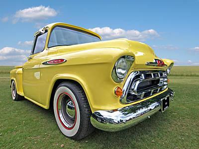 Sunshine Yellow Chevy Art Print