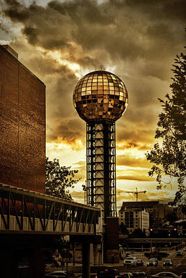 Photograph - Sunsphere Beacon by Sharon Popek