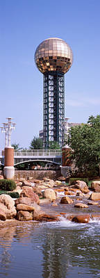 Knoxville Photograph - Sunsphere In A Fair, Worlds Fair Park by Panoramic Images