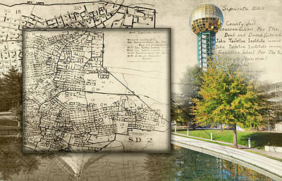 Photograph - Sunsphere Mapped by Sharon Popek
