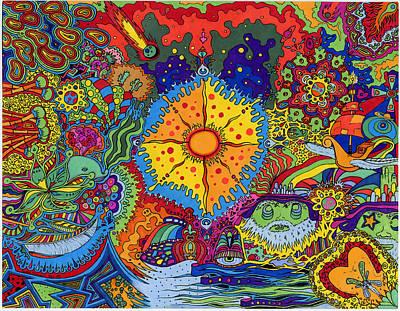 Sunsplash Art Print by Evan Purcell