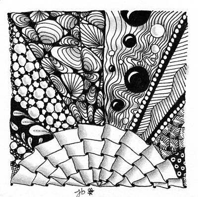 Drawing - Sunsplosion by Jan Steinle