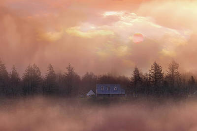 Wall Art - Photograph - Sunsrise Over Homestead In Columbia River Gorge by David Gn