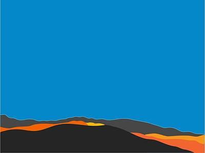 Digital Art - Sunst Range San Jacintos by Stan  Magnan