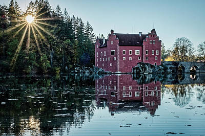 Photograph - Sunstar At Cervena Lhota Castle - Czechia by Stuart Litoff