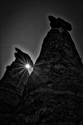 Photograph - Sunstar At Tent Rocks by Stuart Litoff