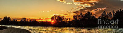 Photograph - Sunstar Over The Payette by Robert Bales