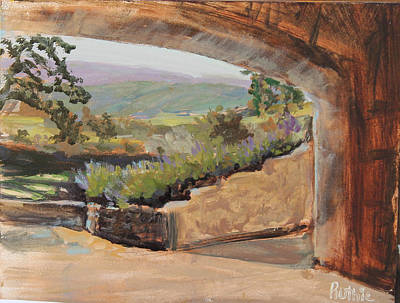 Napa Valley Vineyard Painting - Sunstone by Ruthie Briggs-Greenberg