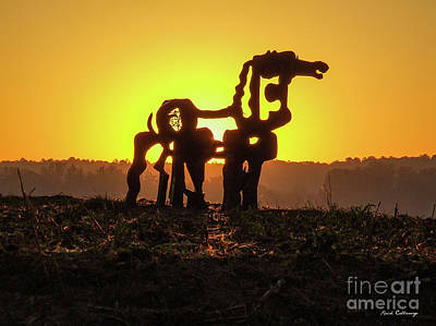 Photograph - Suntan The Iron Horse Collection Art  by Reid Callaway