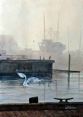 Painting - Sunup At The Docks by Bill Hudson
